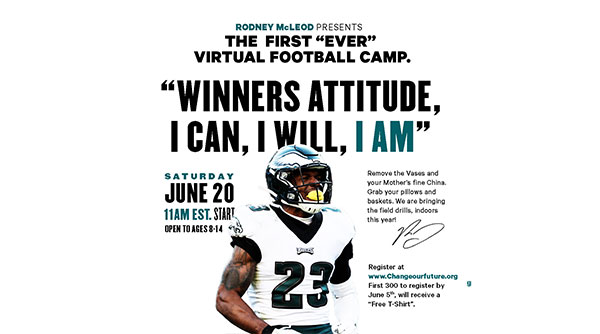Rodney Mcleod 2020 youth football camp flier